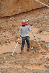 Surveyor with survey equipment