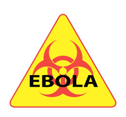 Ebola Biohazard virus danger sign