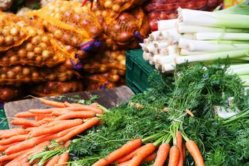 Herbst - Gemüse auf dem Markt