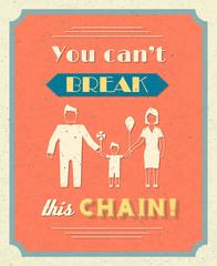 Family retro poster