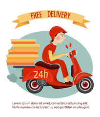 Scooter delivery poster