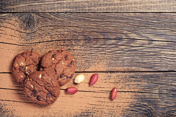 Cookies, nuts and chocolate