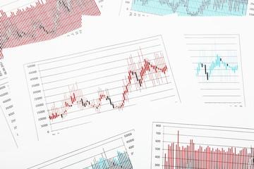 Stock Chart Exchange in Multicolor