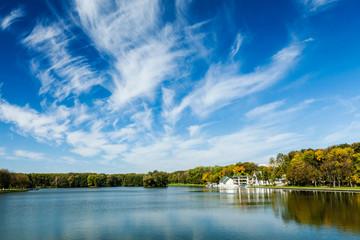 Kamsamolskaje Voziera lake, Minsk, Belarus