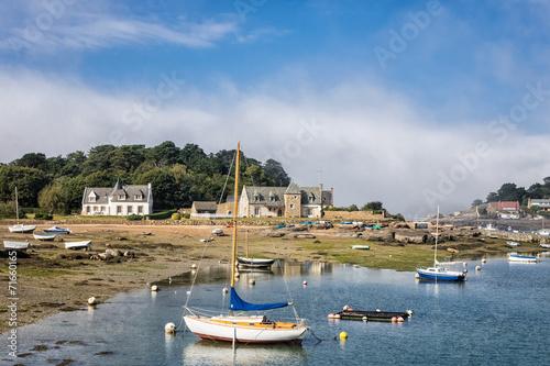 canvas print picture Hafen in der Bretagne