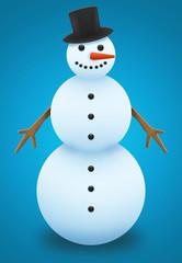 Pupazzo di neve figura
