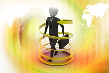 3d man business success concept