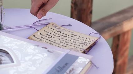 Signature wedding vows