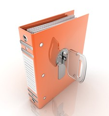 folder for papers and lock