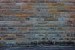 canvas print picture - Hintergrund – gelb grüne Sandsteinmauer