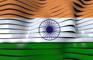india flag stripes background