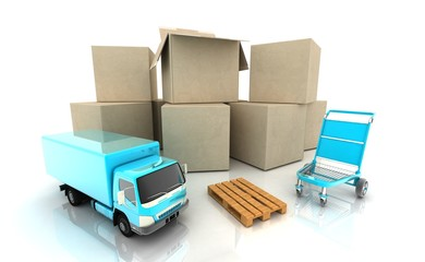 Concept. Shipping. Transport.