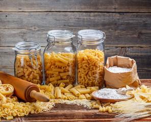 Italian pasta noodles