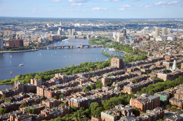 Charles River and Back Bay apartment, Boston, USA