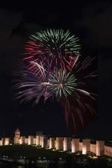 Fireworks Over the Walls of Avila.