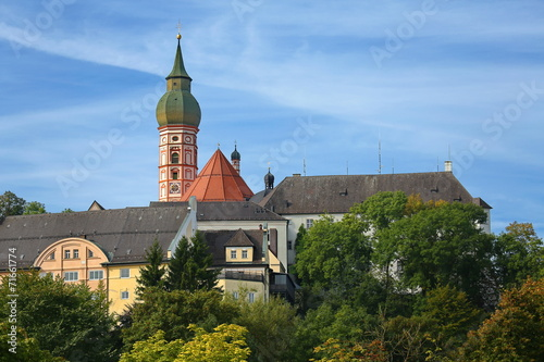 canvas print picture Kloster Andechs
