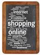 shopping online word cloud