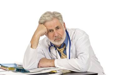 Exhausted Doctor At End of Day