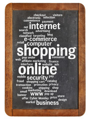 shopping online word cloud