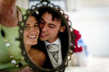 riflesso di sposi