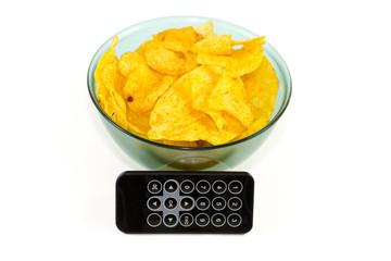 Kartoffelchips mit Fernbedienung