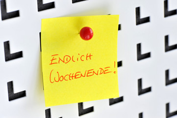 Endlich Wochenende, Thank God its Friday, Pinnwand, Büro