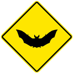 Sinal de perigo - morcegos