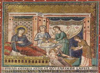 Nativity mosaic .St. Mary in Trastevere P. Cavallini (1291) Rome