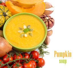 Fresh pumpkin soup