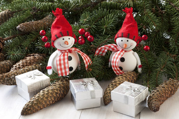 Christmas Decorations with snowmans