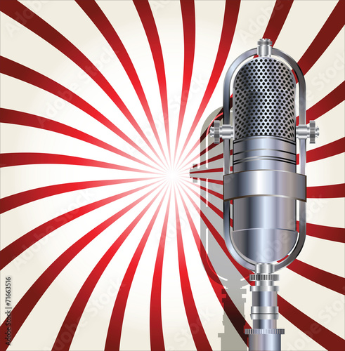 Retro microphone background © totallyout