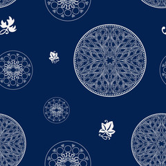 rosette seamless pattern