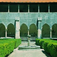 Garden in Batalha monastery, Portugal