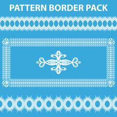 White Pattern Border Pack