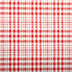 Red wall paper with square pattern