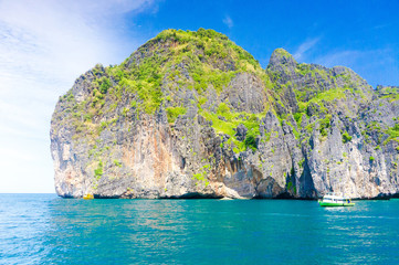 Blue Seascape Sea Rocks