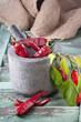Chilies im Mörser