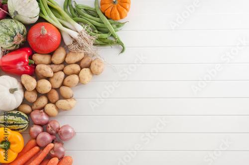 Fotobehang Groenten Gemüse Hintergrund