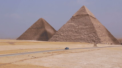 Great Pyramids on the background of Cairo. Egypt