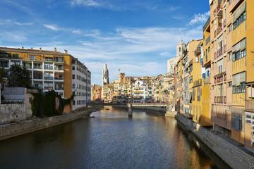 View of Girona, Catalonia, Spain.