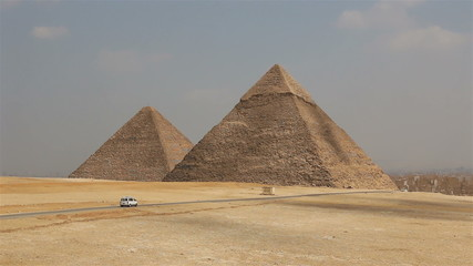 Pyramids on the background of Cairo. Egypt