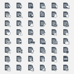 Vector big set Document File icons