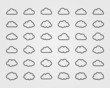 Big vector set of thirty-six cloud shapes - 71665751