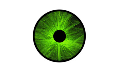 Green iris eye