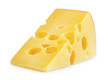 canvas print picture - piece of cheese isolated