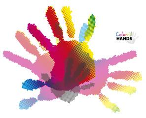 Halftone hands