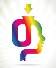 colorful head