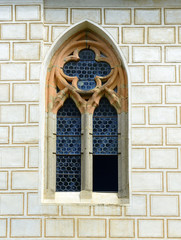 Gothic window of medieval castle Zvikov in the Czech Republic