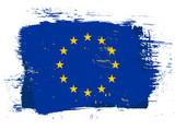 Fototapety EU grunge flag