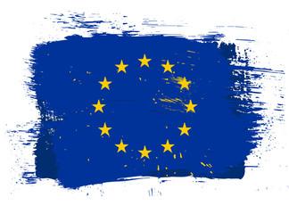 EU grunge flag